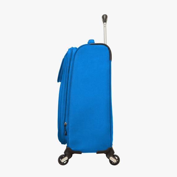 Carry-On Mirage 2.0 Carry-On in Blue Side View in  in Color:Blue Royal in  in Description:Side