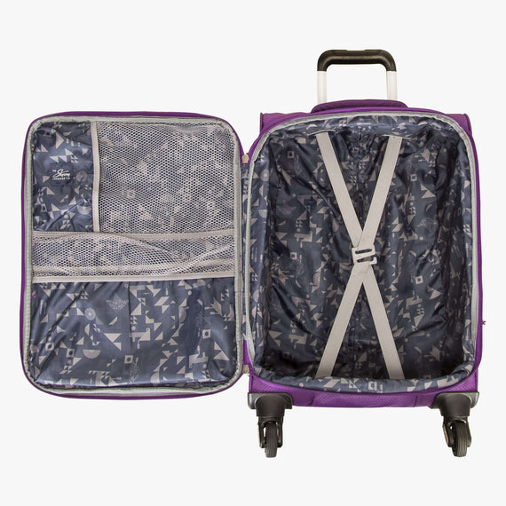 Carry-On Mirage 2.0 Carry-On in Purple Open View in  in Color:Purple Magic in  in Description:Opened