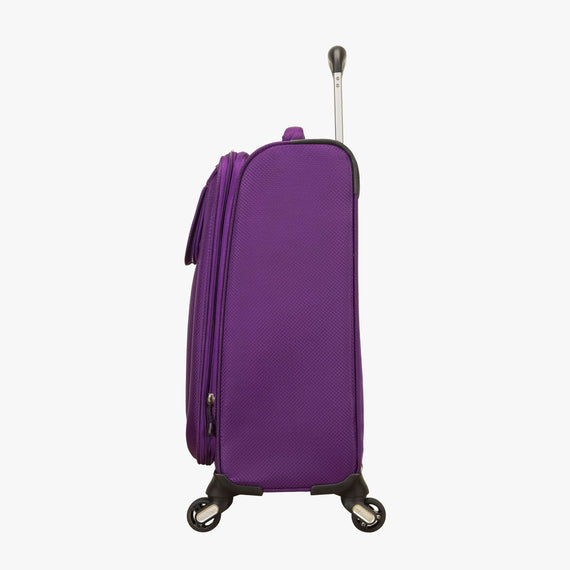 Carry-On Mirage 2.0 Carry-On in Purple Side View in  in Color:Purple Magic in  in Description:Side