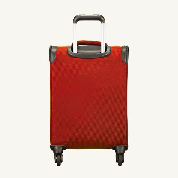 Carry-On Skyway Luggage 20-Inch Carry On Spinner Luggage in True Red in  in Color:True Red in  in Description:Back
