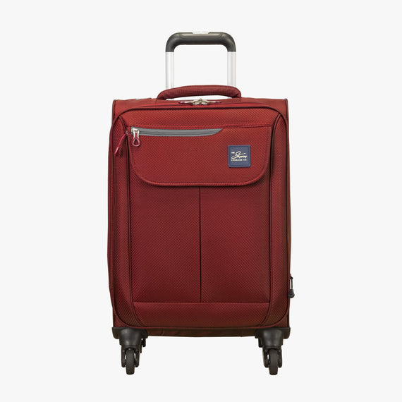 Carry-On Skyway Luggage 20-Inch Carry On Spinner Luggage in True Red in  in Color:True Red in  in Description:Front