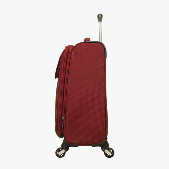 Carry-On Skyway Luggage 20-Inch Carry On Spinner Luggage in True Red in  in Color:True Red in  in Description:Side