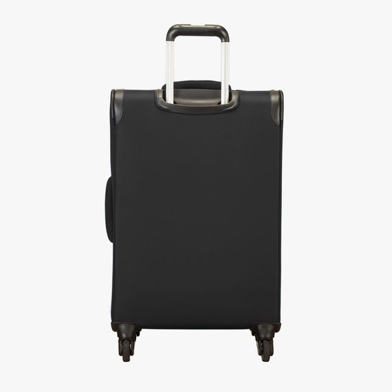 Medium Check-In Skyway Luggage 24-Inch Spinner Suitcase in Black in  in Color:Black in  in Description:Back