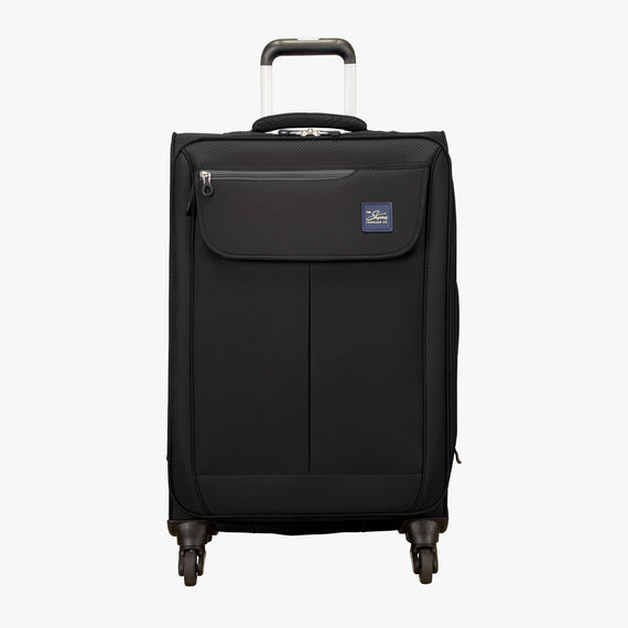 Medium Check-In Skyway Luggage 24-Inch Spinner Suitcase in Black in  in Color:Black in  in Description:Front