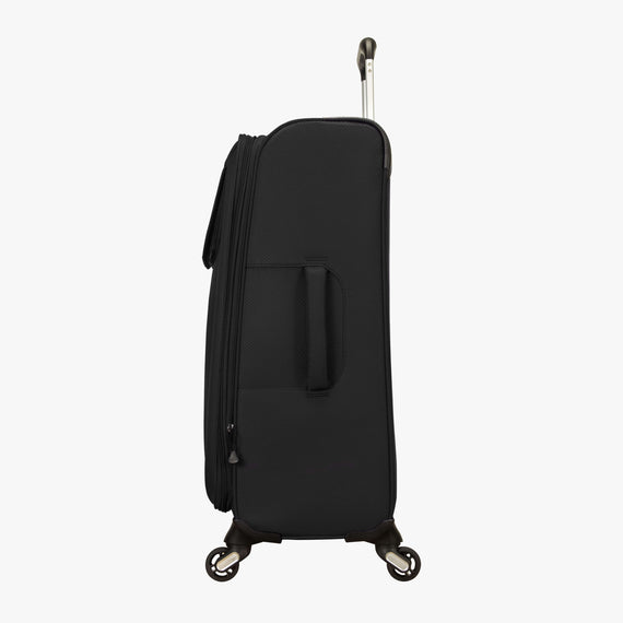 Medium Check-In Skyway Luggage 24-Inch Spinner Suitcase in Black in  in Color:Black in  in Description:Side