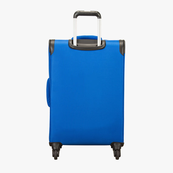 Medium Check-In Skyway Luggage 24-Inch Spinner Suitcase in Blue Royal in  in Color:Blue Royal in  in Description:Back