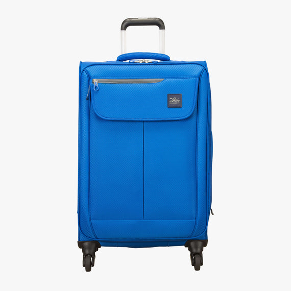 Medium Check-In Skyway Luggage 24-Inch Spinner Suitcase in Blue Royal in  in Color:Blue Royal in  in Description:Front