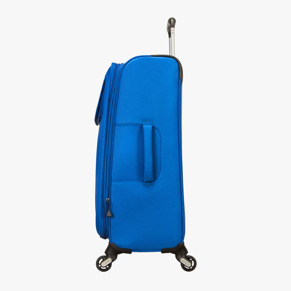 Medium Check-In Skyway Luggage 24-Inch Spinner Suitcase in Blue Royal in  in Color:Blue Royal in  in Description:Side