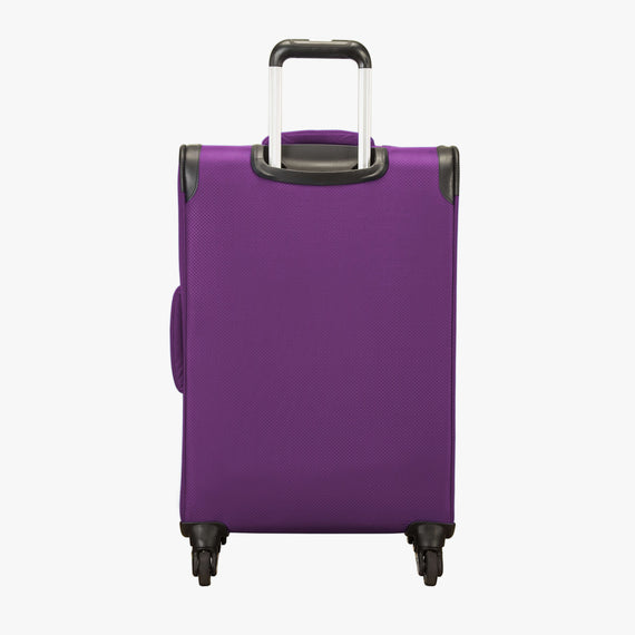 Medium Check-In Mirage 2.0 24-inch Check-in Suitcase in Purple Back View in  in Color:Purple Magic in  in Description:Back