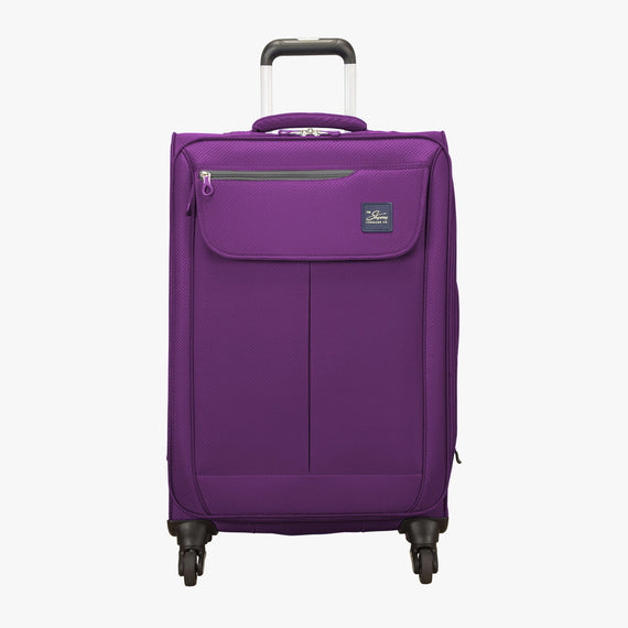 Medium Check-In Mirage 2.0 24-inch Check-in Suitcase in Purple Front View in  in Color:Purple Magic in  in Description:Front