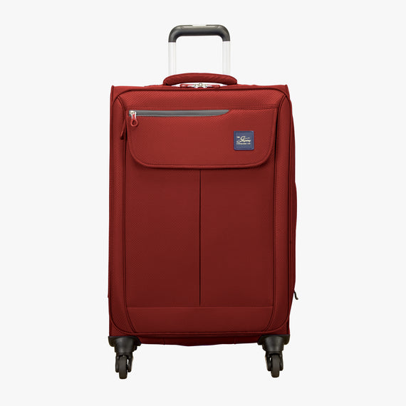 Medium Check-In Skyway Luggage 24-Inch Spinner Suitcase in True Red in  in Color:True Red in  in Description:Front