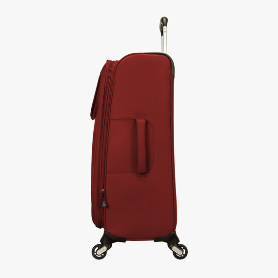 Medium Check-In Skyway Luggage 24-Inch Spinner Suitcase in True Red in  in Color:True Red in  in Description:Side