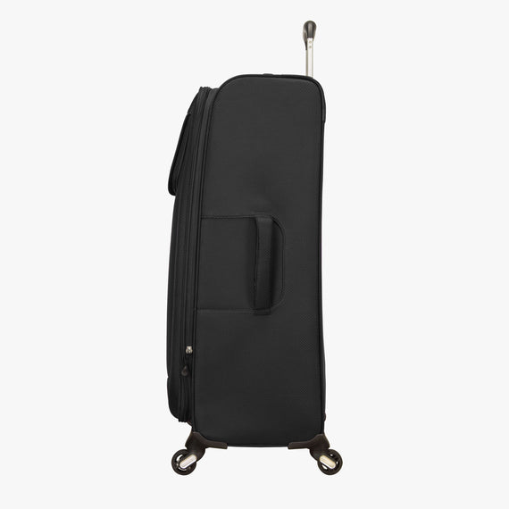 Large Check-In Skyway Luggage 28-inch Spinner Luggage in Black in  in Color:Black in  in Description:Side