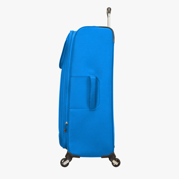 Large Check-In Skyway Luggage 28-inch Spinner Luggage in Blue Royal in  in Color:Blue Royal in  in Description:Side