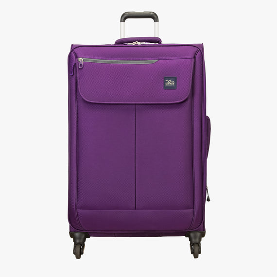 Large Check-In Mirage 2.0 28-inch Check-in Suitcase in Purple Front View in  in Color:Purple Magic in  in Description:Front