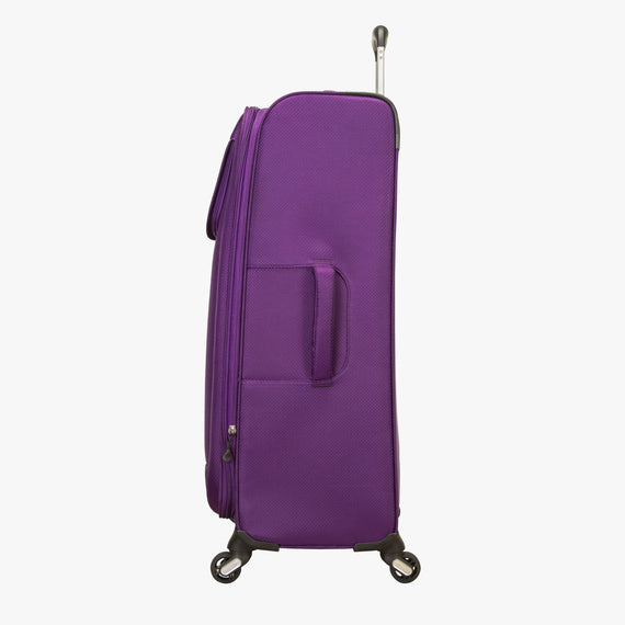 Large Check-In Mirage 2.0 28-inch Check-in Suitcase in Purple Side View in  in Color:Purple Magic in  in Description:Side
