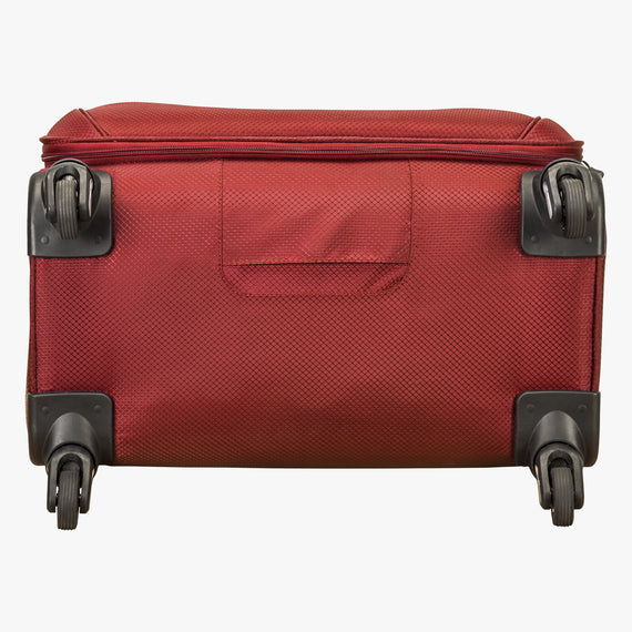 Medium Check-In Skyway Luggage 24-Inch Spinner Suitcase in True Red in  in Color:True Red in  in Description:Bottom