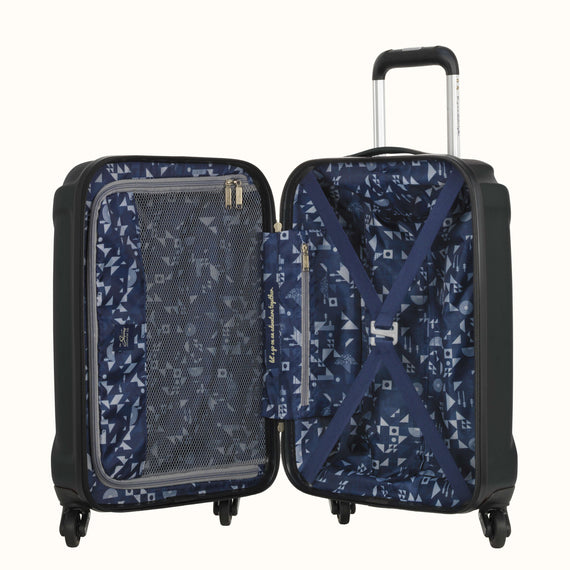 Carry-On Nimbus 3.0 20-inch Carry-On in Black Open View in  in Color:Black in  in Description:Opened
