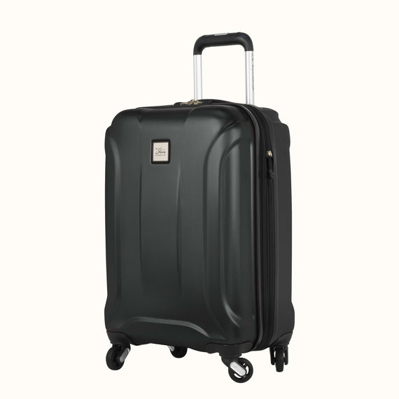 Carry-On Nimbus 3.0 20-inch Carry-On in Black Quarterfront View in  in Color:Black in  in Description:Angled View