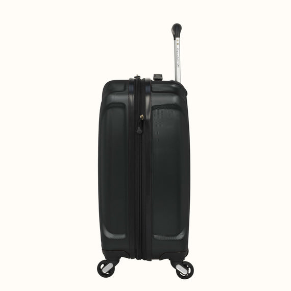 Carry-On Nimbus 3.0 20-inch Carry-On in Black Side View in  in Color:Black in  in Description:Side