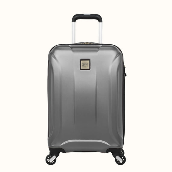 Carry-On Skyway Luggage 20-inch Spinner Carry-On Suitcase in Silver in  in Color:Silver in  in Description:Front