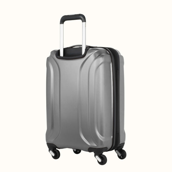 Carry-On Skyway Luggage 20-inch Spinner Carry-On Suitcase in Silver in  in Color:Silver in  in Description:Back Angle