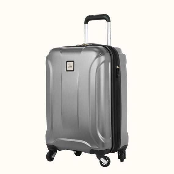 Carry-On Skyway Luggage 20-inch Spinner Carry-On Suitcase in Silver in  in Color:Silver in  in Description:Angled View