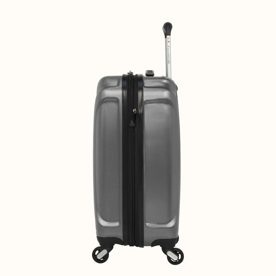 Carry-On Skyway Luggage 20-inch Spinner Carry-On Suitcase in Silver in  in Color:Silver in  in Description:Side