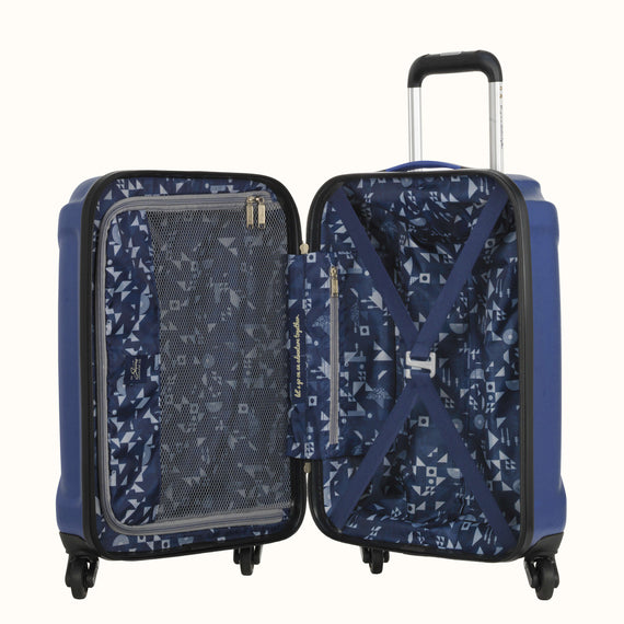 Carry-On Nimbus 3.0 20-inch Carry-On in Blue Open View in  in Color:Cobalt Blue in  in Description:Opened