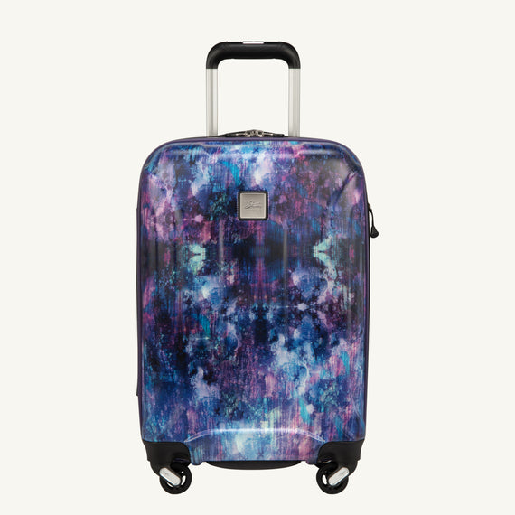 Carry-On Skyway Luggage 20-inch Spinner Carry-On Suitcase Front View in Purple Cosmo in  in Color:Purple Cosmo in  in Description:Front