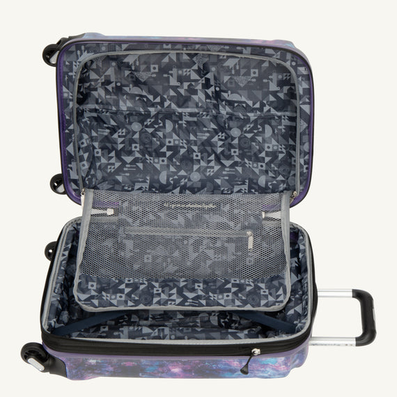 Carry-On Nimbus 3.0 20-inch Carry-On in Purple Cosmo Alternate Open View in  in Color:Purple Cosmo in  in Description:Open Detail