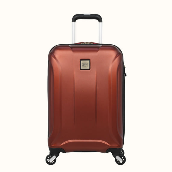 Carry-On Skyway Luggage 20-inch Spinner Carry-On Suitcase in Cranberry in  in Color:Cranberry in  in Description:Front