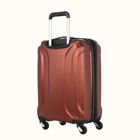 Carry-On Skyway Luggage 20-inch Spinner Carry-On Suitcase in Cranberry in  in Color:Cranberry in  in Description:Back Angle