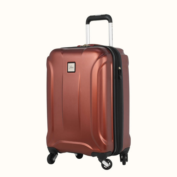 Carry-On Skyway Luggage 20-inch Spinner Carry-On Suitcase in Cranberry in  in Color:Cranberry in  in Description:Angled View