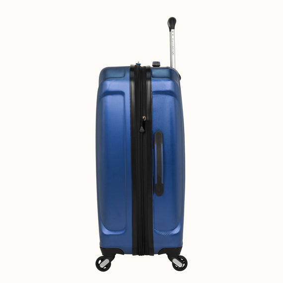 Medium Check-In Nimbus 3.0 24-inch Check-in Suitcase in Blue Side View in  in Color:Cobalt Blue in  in Description:Side