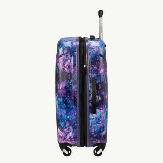 Medium Check-In Nimbus 3.0 24-inch Check-in Suitcase in Purple Cosmo Side View in  in Color:Purple Cosmo in  in Description:Side