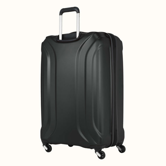 Large Check-In Skyway Luggage 28-inch Spinner Luggage in Black in  in Color:Black in  in Description:Back Angle