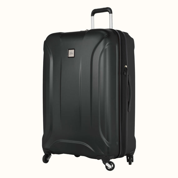 Large Check-In Skyway Luggage 28-inch Spinner Luggage in Black in  in Color:Black in  in Description:Angled View