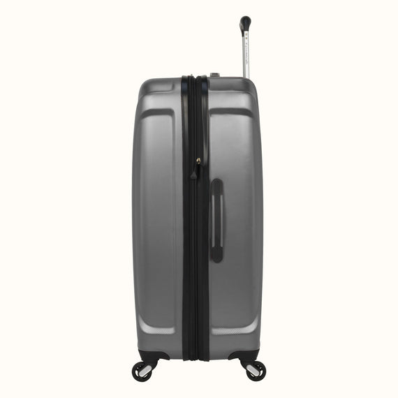 Large Check-In Skyway Luggage 28-inch Spinner Luggage in Silver in  in Color:Silver in  in Description:Side