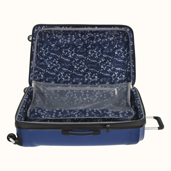 Large Check-In Skyway Luggage 28-inch Spinner Luggage in Cobalt Blue in  in Color:Cobalt Blue in  in Description:Open Detail
