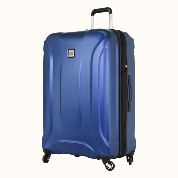 Large Check-In Skyway Luggage 28-inch Spinner Luggage in Cobalt Blue in  in Color:Cobalt Blue in  in Description:Angled View