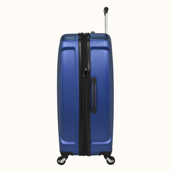 Large Check-In Skyway Luggage 28-inch Spinner Luggage in Cobalt Blue in  in Color:Cobalt Blue in  in Description:Side