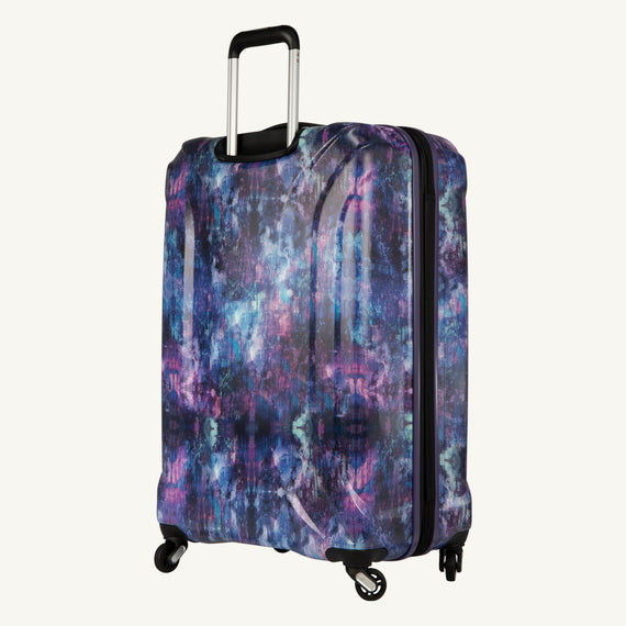Large Check-In Skyway Luggage 28-inch Spinner Luggage in Purple Cosmo in  in Color:Purple Cosmo in  in Description:Back Angle