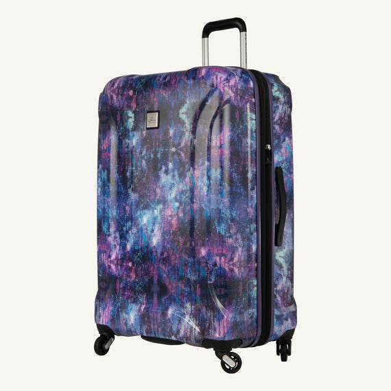 Large Check-In Skyway Luggage 28-inch Spinner Luggage in Purple Cosmo in  in Color:Purple Cosmo in  in Description:Angled View