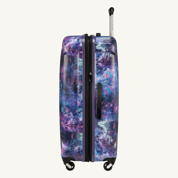 Large Check-In Skyway Luggage 28-inch Spinner Luggage in Purple Cosmo in  in Color:Purple Cosmo in  in Description:Side