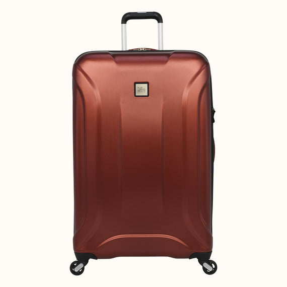 Large Check-In Skyway Luggage 28-inch Spinner Luggage in Cranberry in  in Color:Cranberry in  in Description:Front