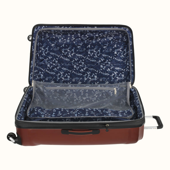 Large Check-In Skyway Luggage 28-inch Spinner Luggage in Cranberry in  in Color:Cranberry in  in Description:Open Detail