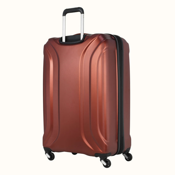 Large Check-In Skyway Luggage 28-inch Spinner Luggage in Cranberry in  in Color:Cranberry in  in Description:Back Angle