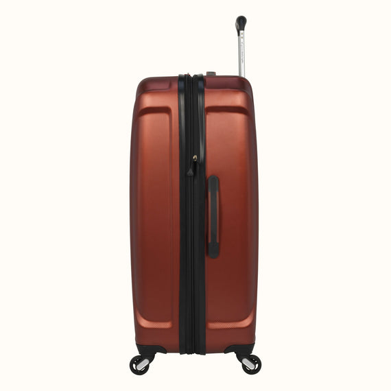 Large Check-In Skyway Luggage 28-inch Spinner Luggage in Cranberry in  in Color:Cranberry in  in Description:Side