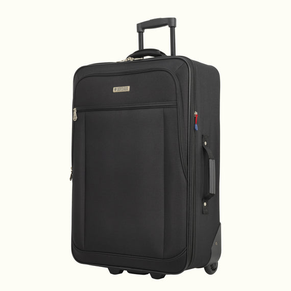 4-Piece Luggage Set Skyway Luggage Hudson 4-Piece Luggage Set in Black in  in Color:Black in  in Description:Angled View